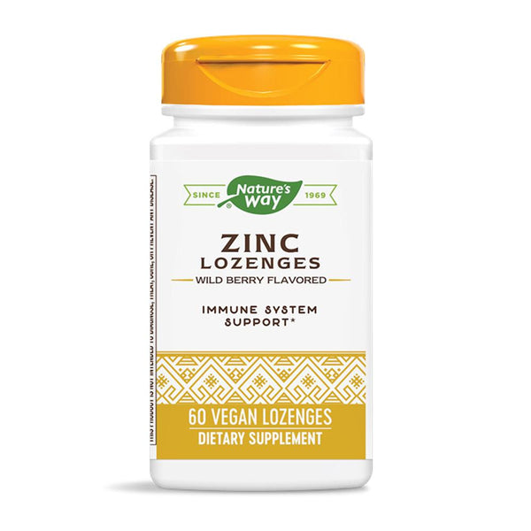 Nature's Way Zinc Lozenges 60VL Vitamins & Minerals Nature's Way  (4393736798231)
