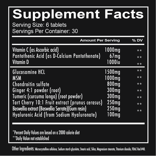Redcon1 Foxtrot Supplement Facts
