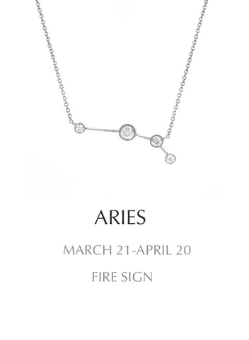 necklace, silver, Aries