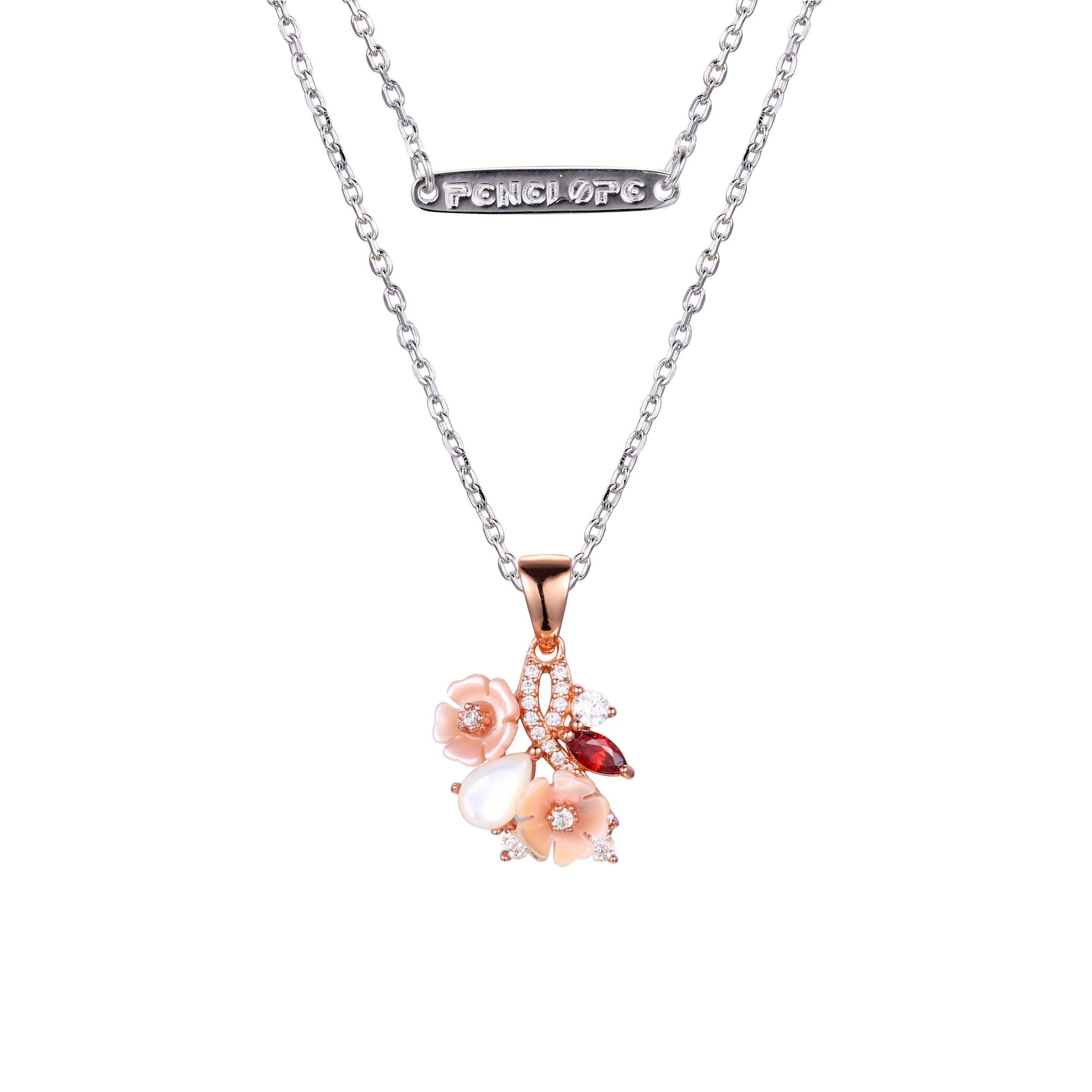 Rose Gold Flower Necklaces - penelope-it.com