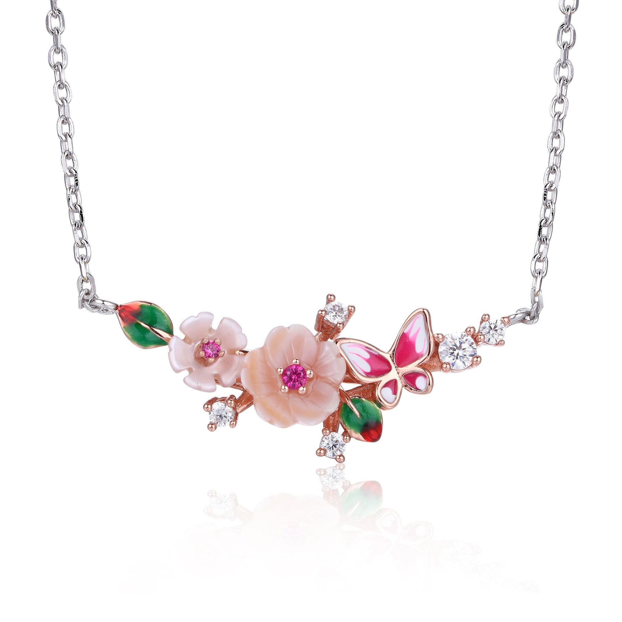 Bird Floral Necklace - penelope-it.com