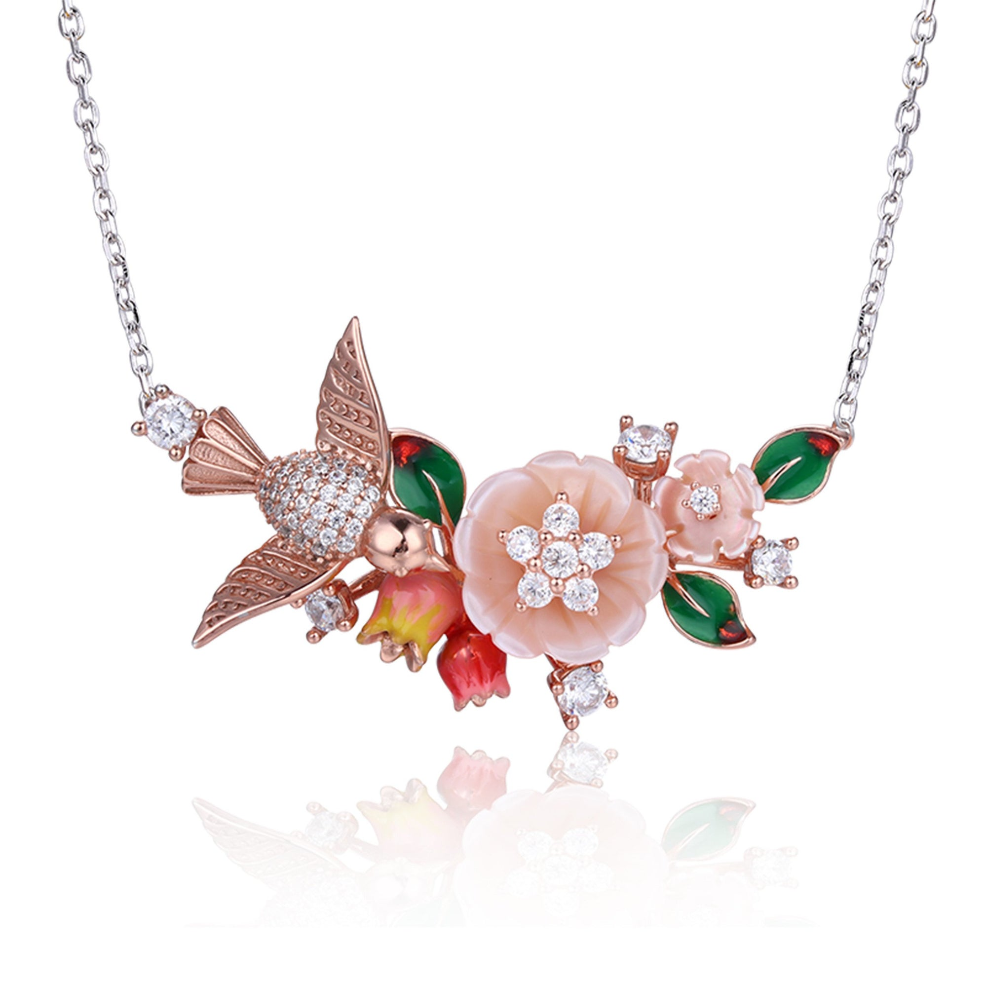 Bird Floral Necklaces - penelope-it.com