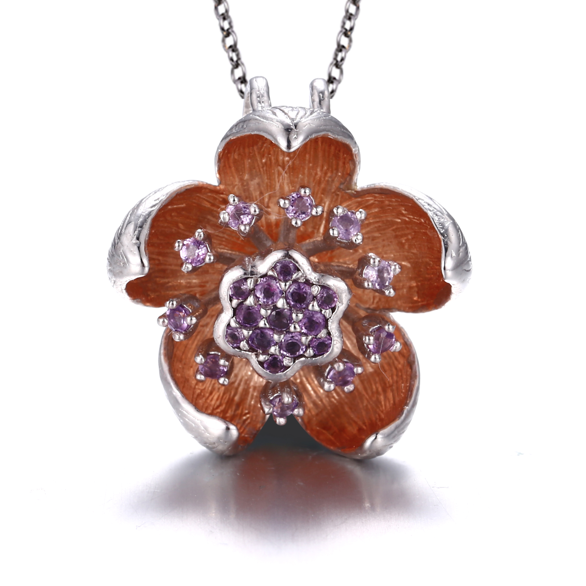 Floral Amethyst Necklace - penelope-it.com