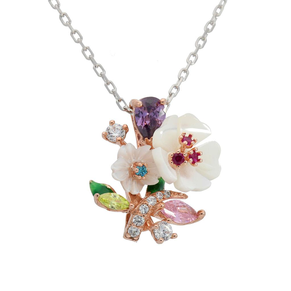 White Snow Flower Necklaces - penelope-it.com
