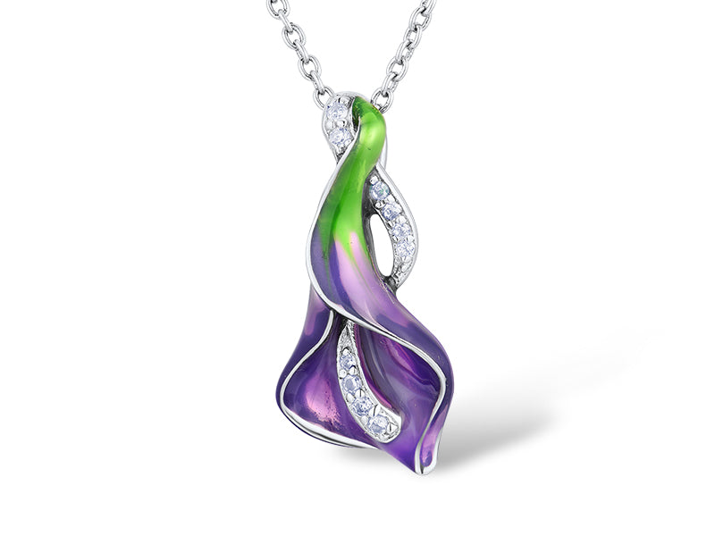 Calla lily Purple Necklace - penelope-it.com