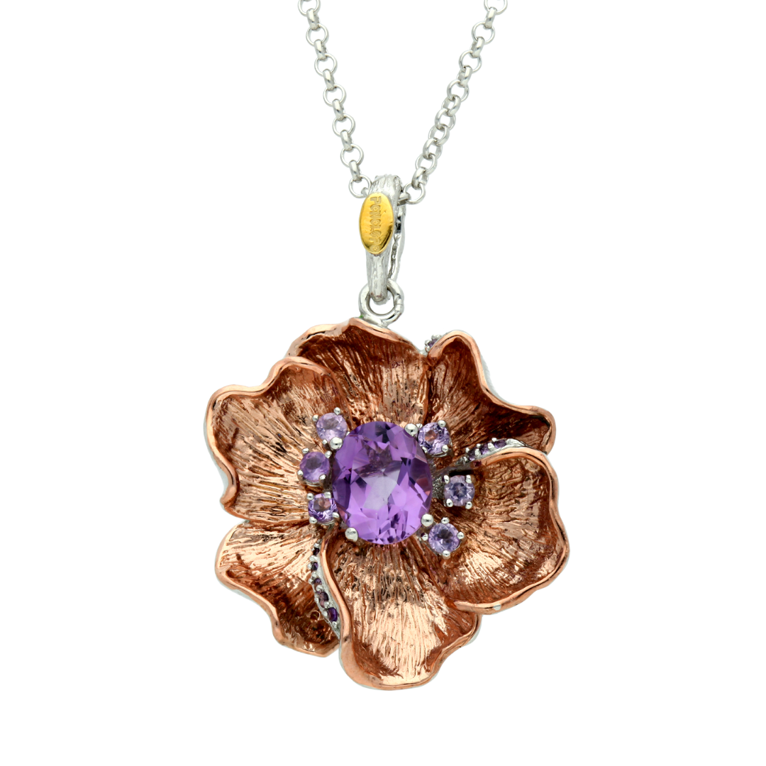 Amethyst Flower Necklace - penelope-it.com