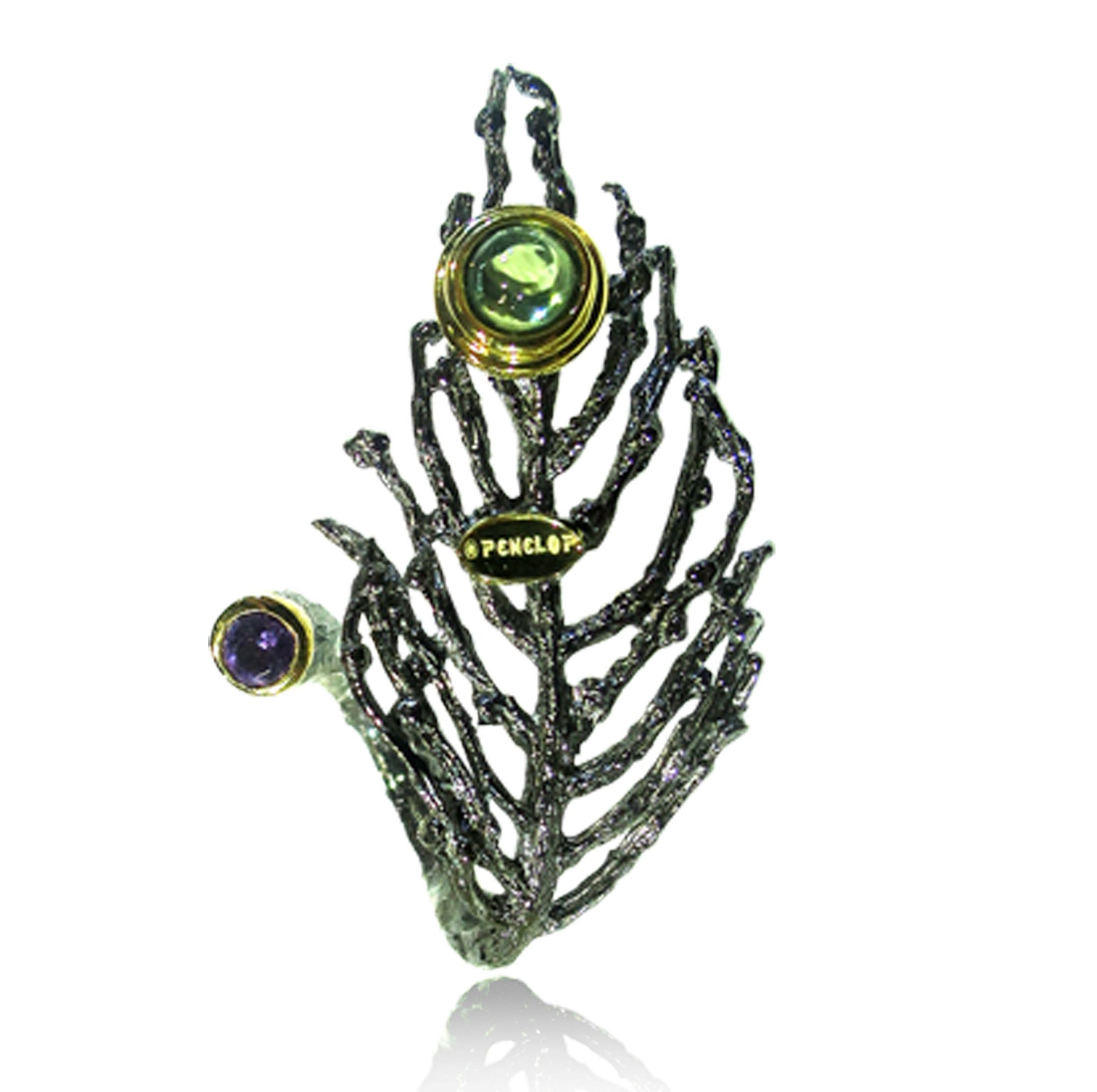 Forest Tree Gemstones Ring - penelope-it.com