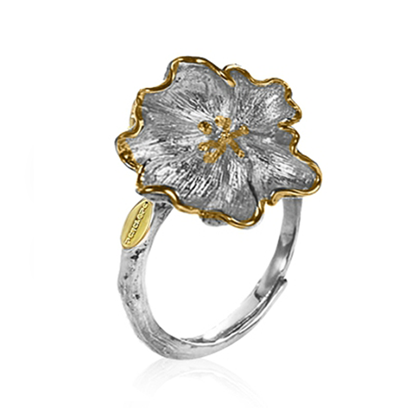 Flower Ring Silver - penelope-it.com
