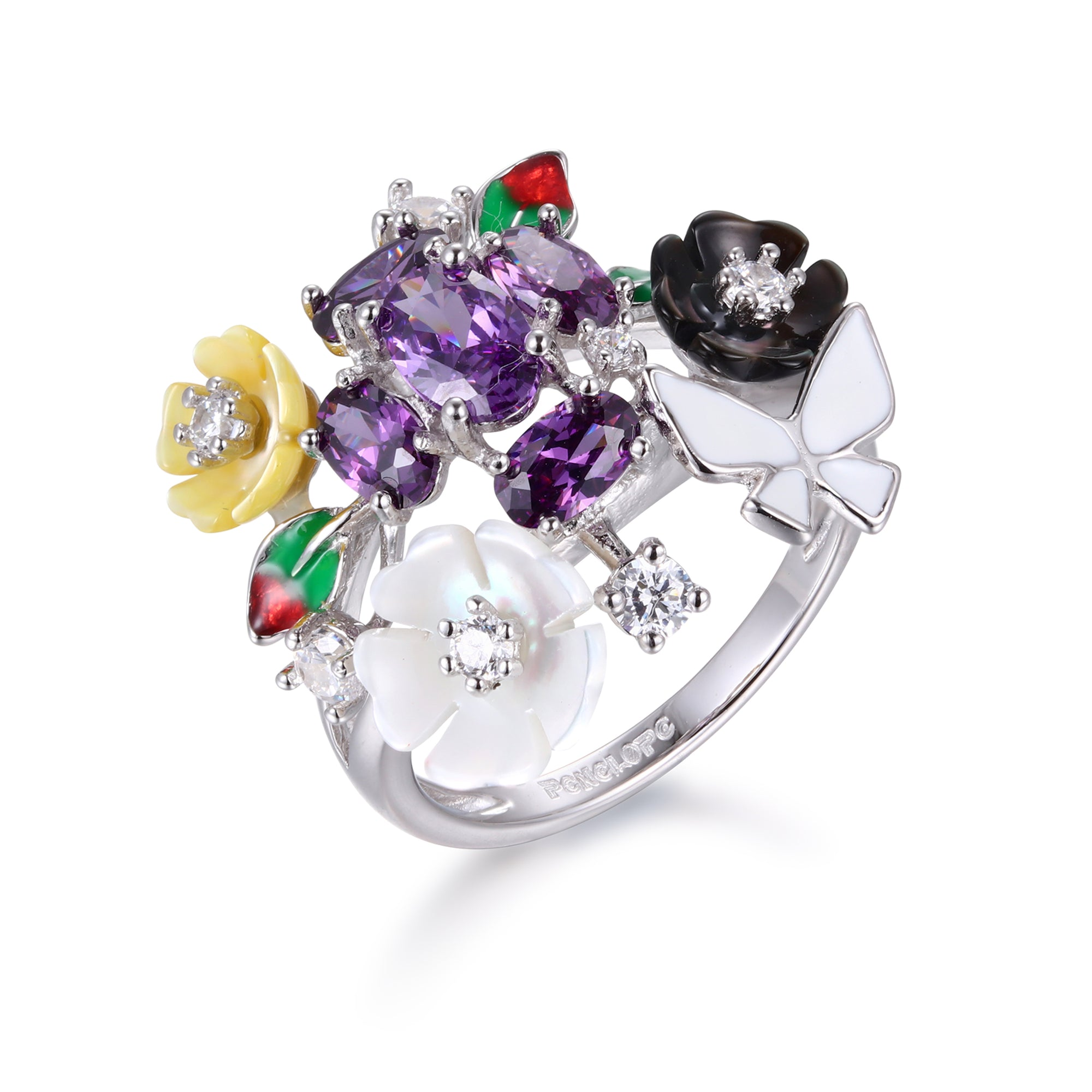 Mauve Full Bloom Ring - penelope-it.com