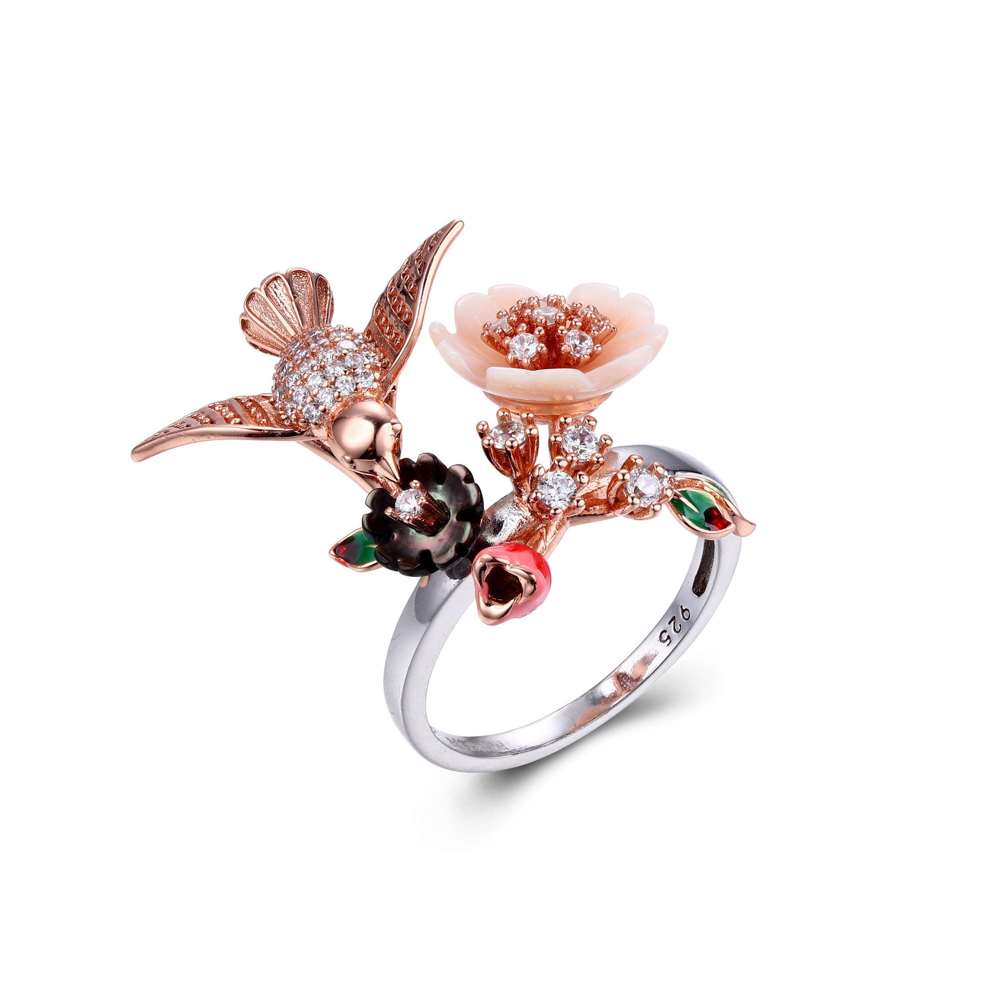 Bird Floral Ring - penelope-it.com