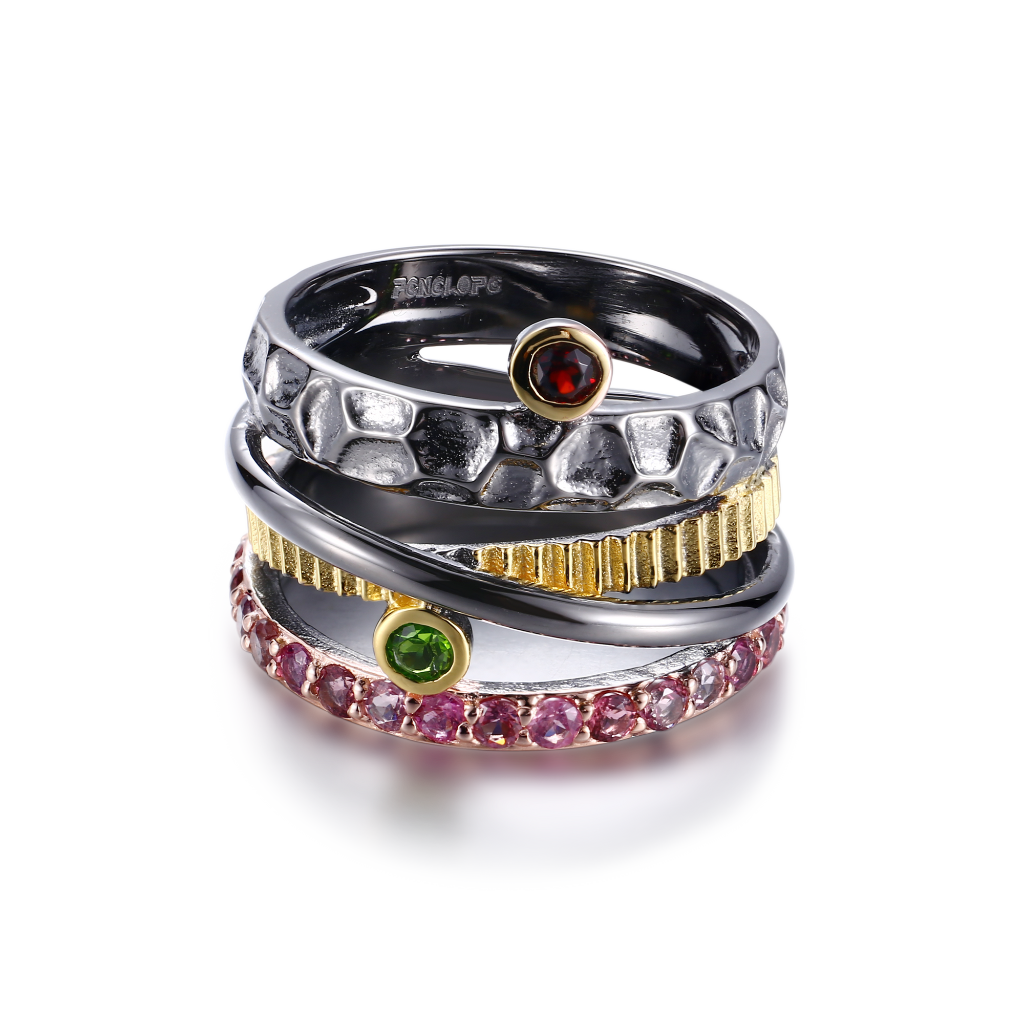 Gemstones Silver Ring - penelope-it.com