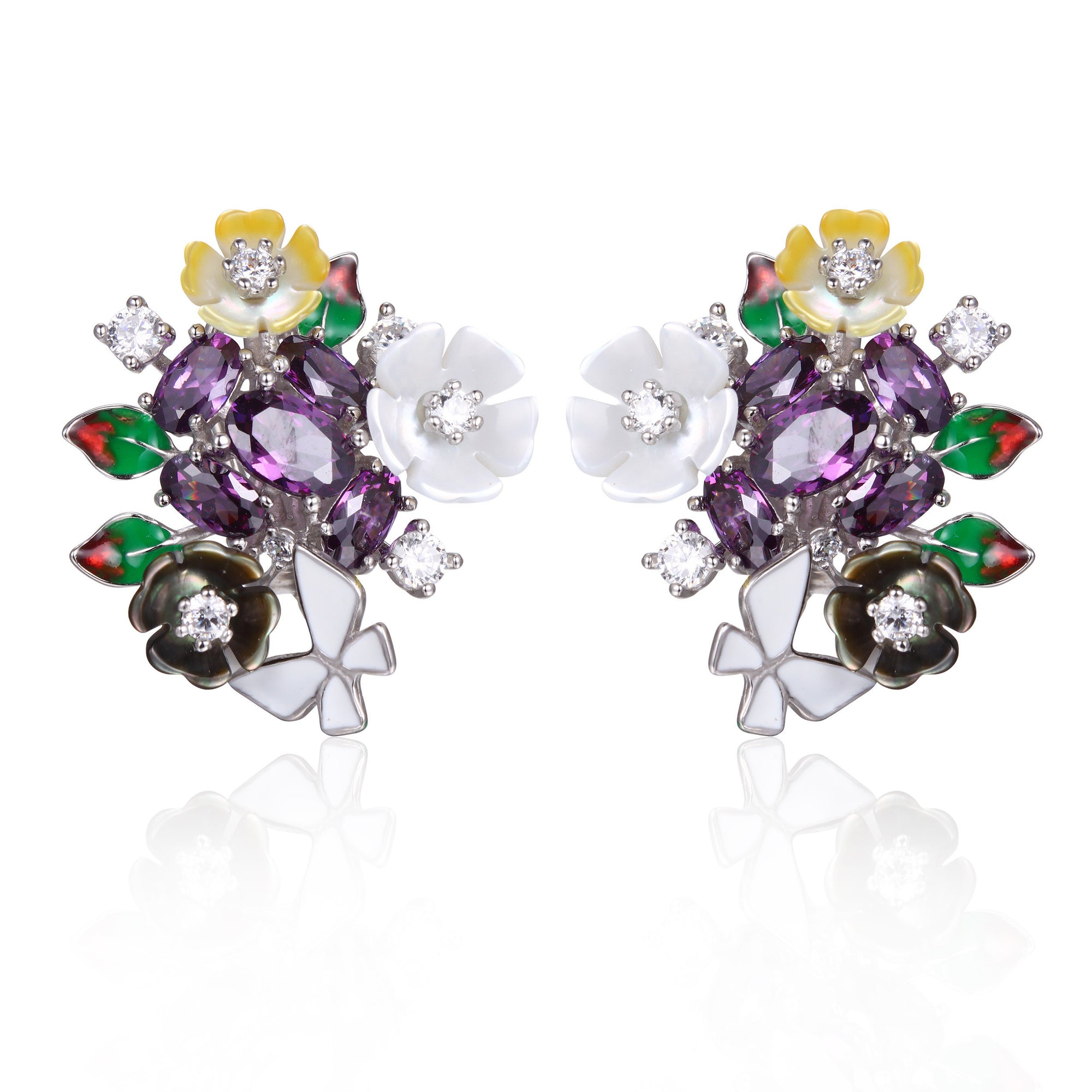 Purple Stone Earrings - penelope-it.com