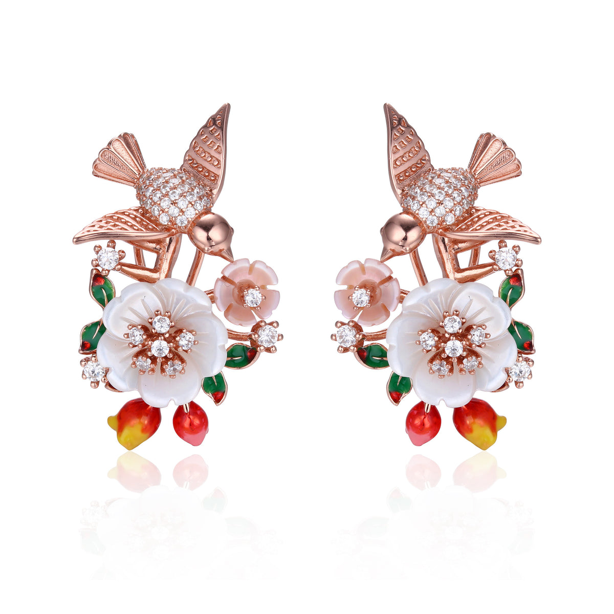 Bird Floral Earring - penelope-it.com