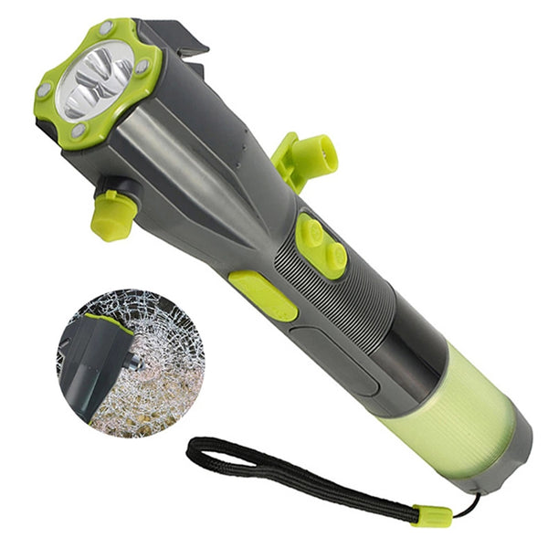 Thor Crank 8 in 1 Flashlight Rescue Hammer + Emergency Phone Charger
