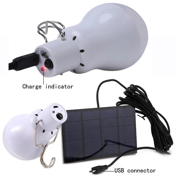 Portable Rechargeable Lamp with Solar Panel