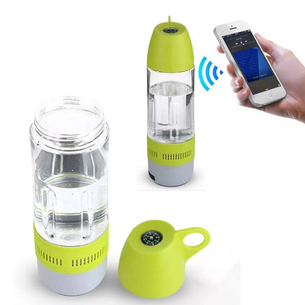Water Bottle + Bluetooth Speaker