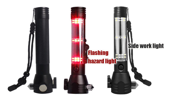Thor 10 in 1 Life Saving Flashlight Emergency Hammer + Solar Phone Charger