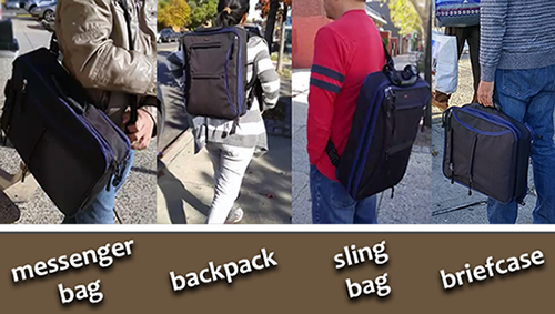 5 in 1 Backpack System with Zip Out Expansion