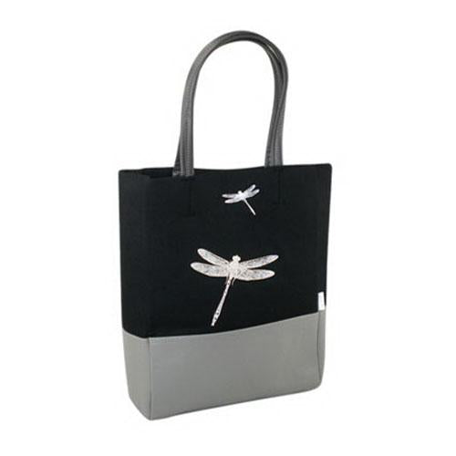 Tote Bag with Dragonfly Print