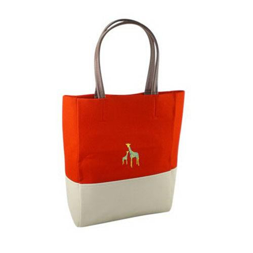 Tote Bag with Giraffe Print