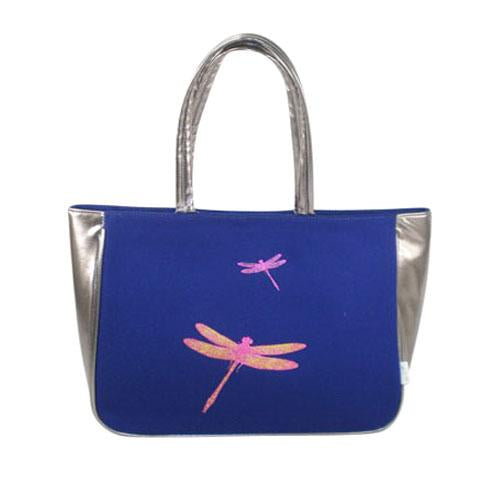 Shoulder Bag with Dragonfly Print