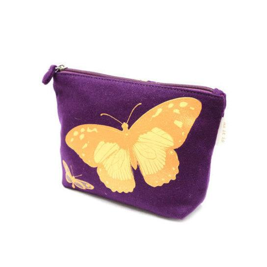 Blazer Casual Pouch with Butterfly Print