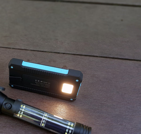 Waterproof Solar Power Bank with Flashlight