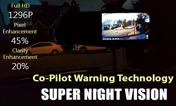 Night Hawk Mirror Dashcam