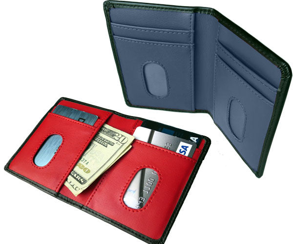 Minimalist Leather RFID Wallet with Quick Swipe Slots