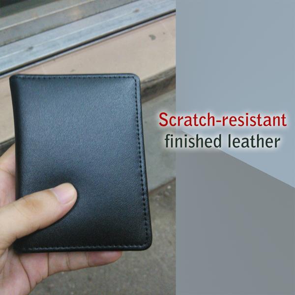 Tough Leather RFID Wallet with Quick Swipe Slots