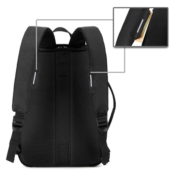 Forte Buzz Convertible Anti-theft Briefcase + Backpack with Zipper Lock and Cable