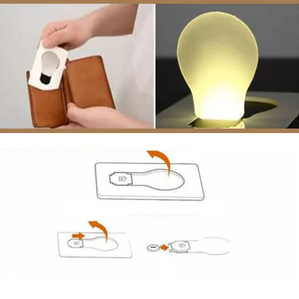 Wallet Light Bulb For Travel or Mood Setting