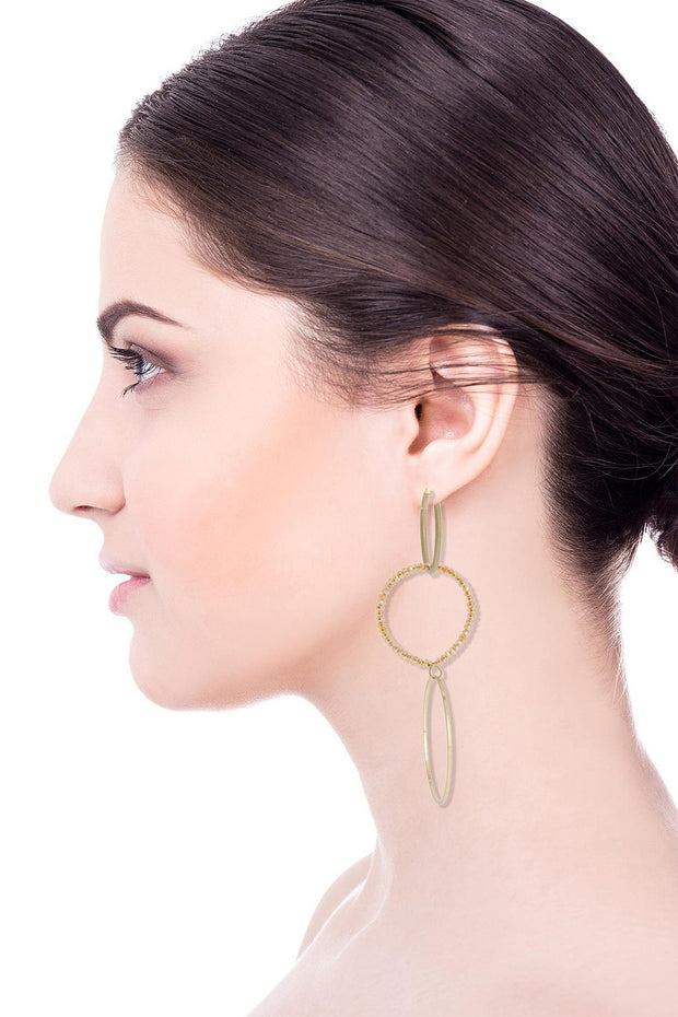 Interlocked Hoop Dangle Earring