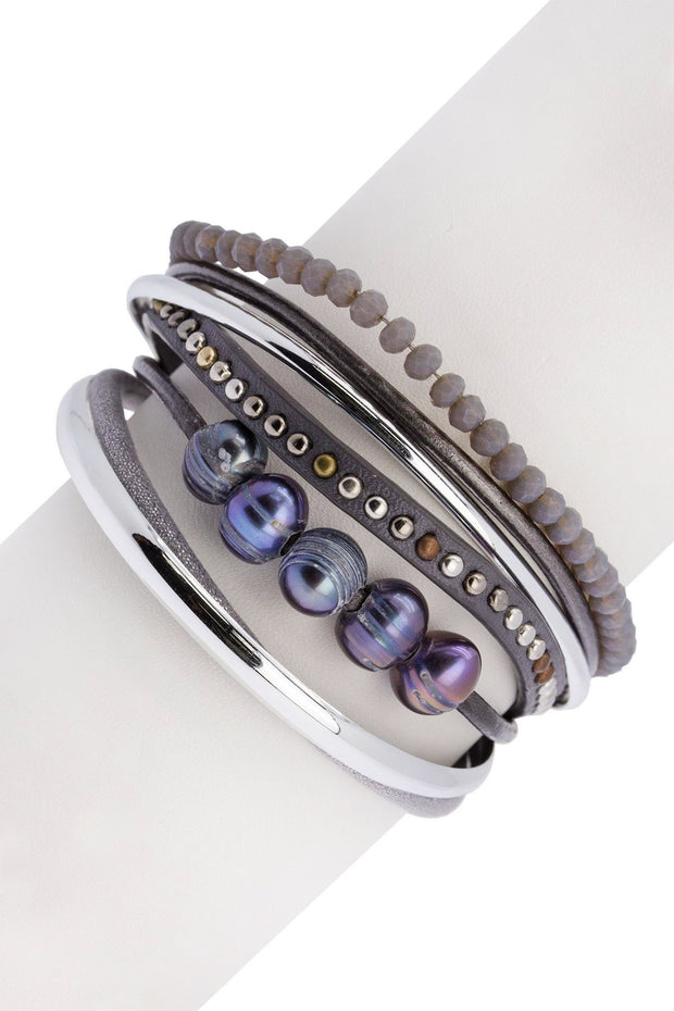 Touch of Cool Leather Bracelet 1