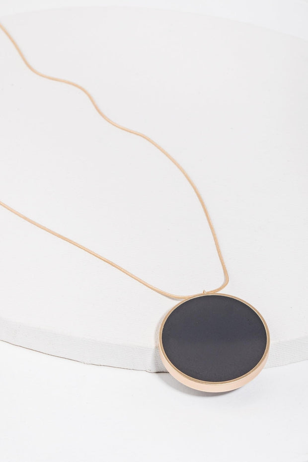 Monocle Resin Adjustable Pendant Necklace
