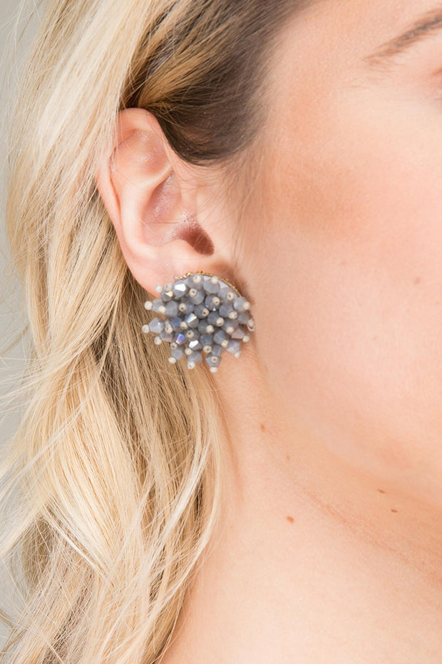 Prickle Beaded Statement Stud Earring