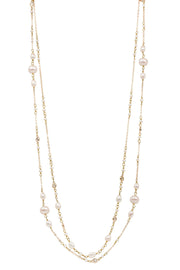 Pearl Chain Long Necklace