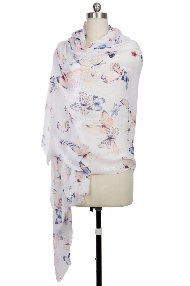 Women Butterfly Printed scarves