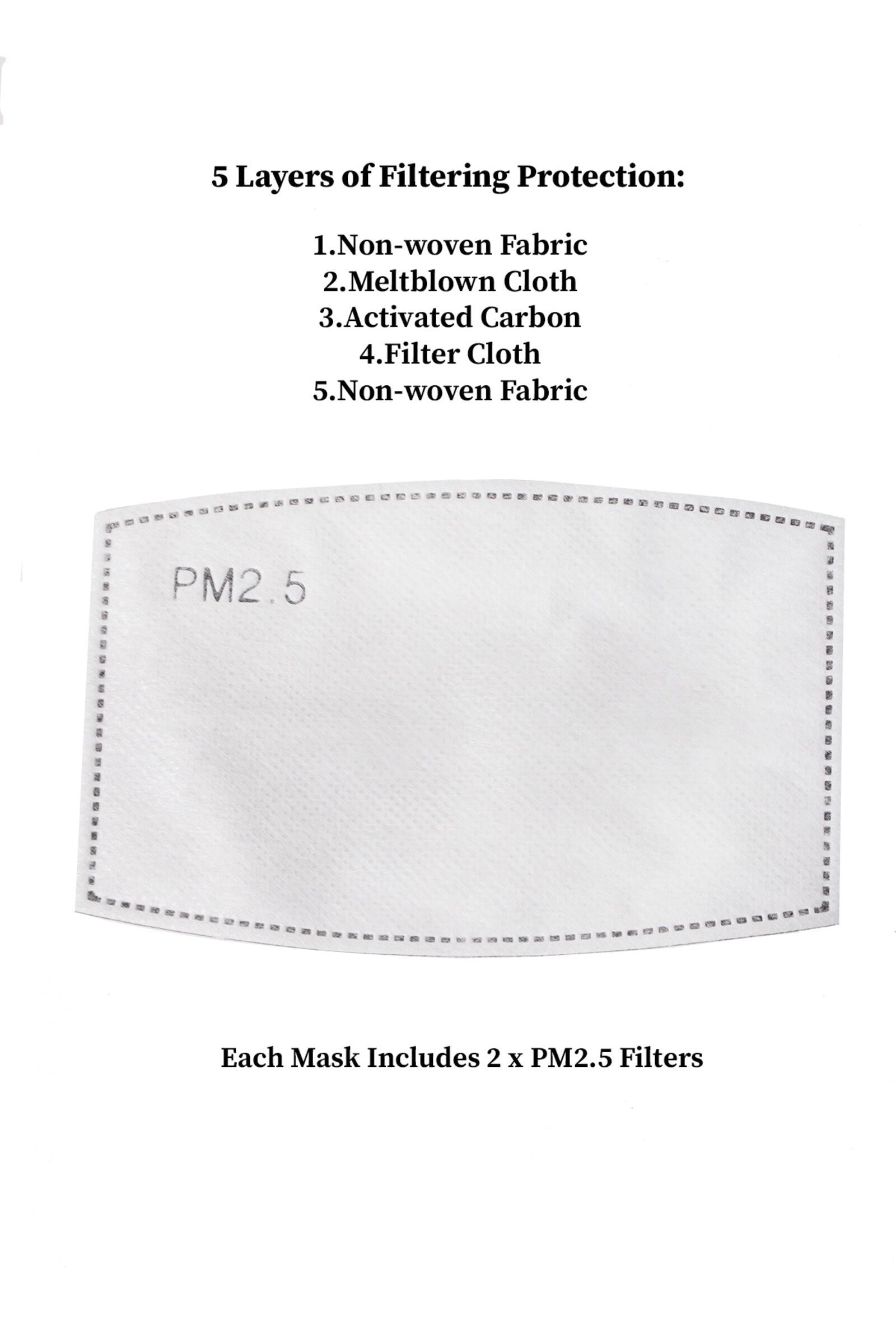 Pack of PM 2.5 Filter for Face Masks