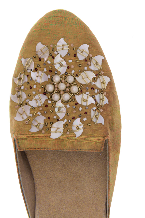 Mani Mother of Pearl Beaded Personalized Mule