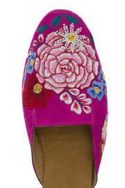 floral embroidered mule