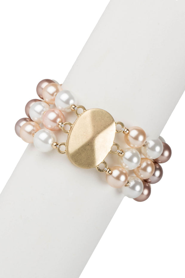 Three Layer Pearl Bracelet