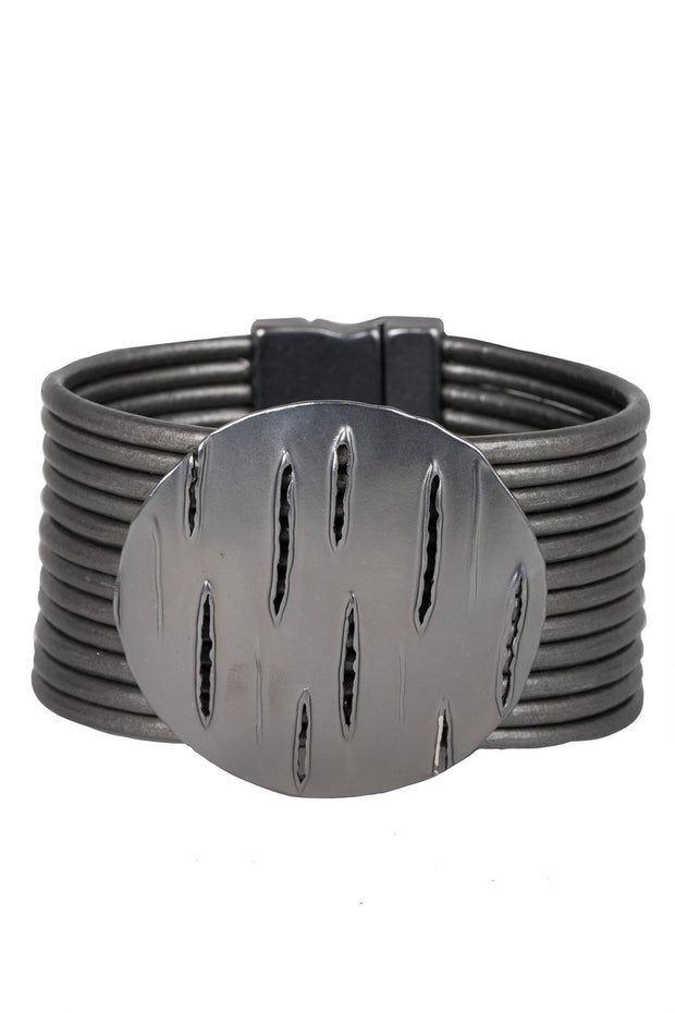Slash Leather Bracelet