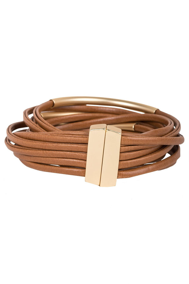 On The Rail Leather Bracelet
