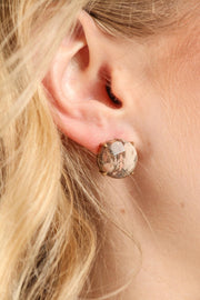 Natural Stone Stud Earring