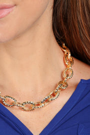 Hammered Chain Necklace