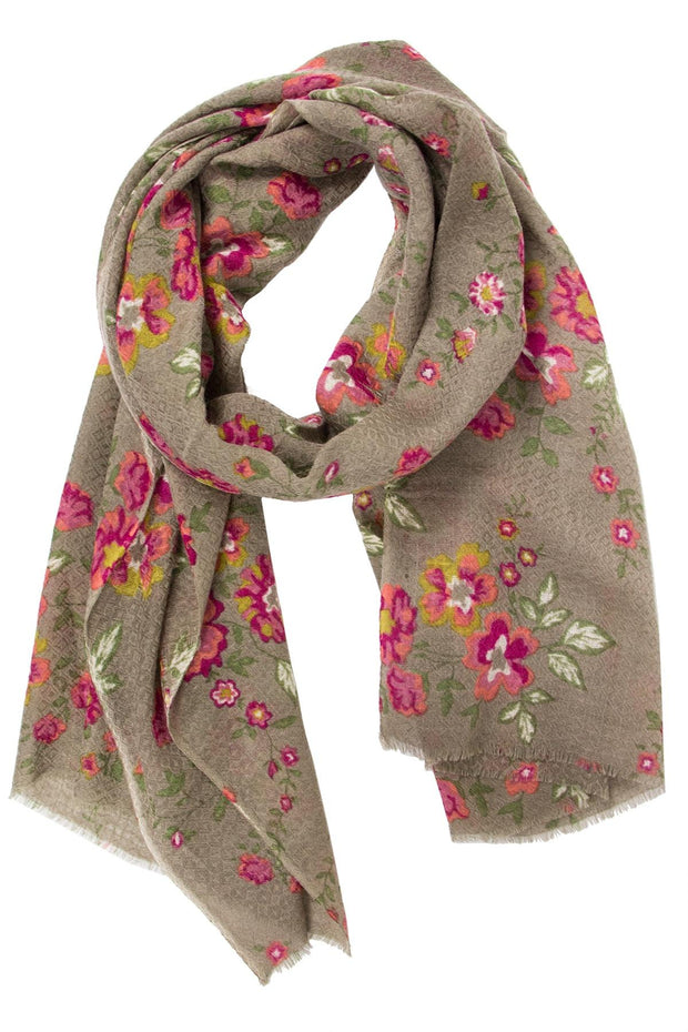 Jane Print Scarf with Eyelash