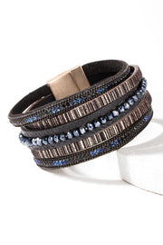 Cheery Shimmer Leather Bracelet Bracelet