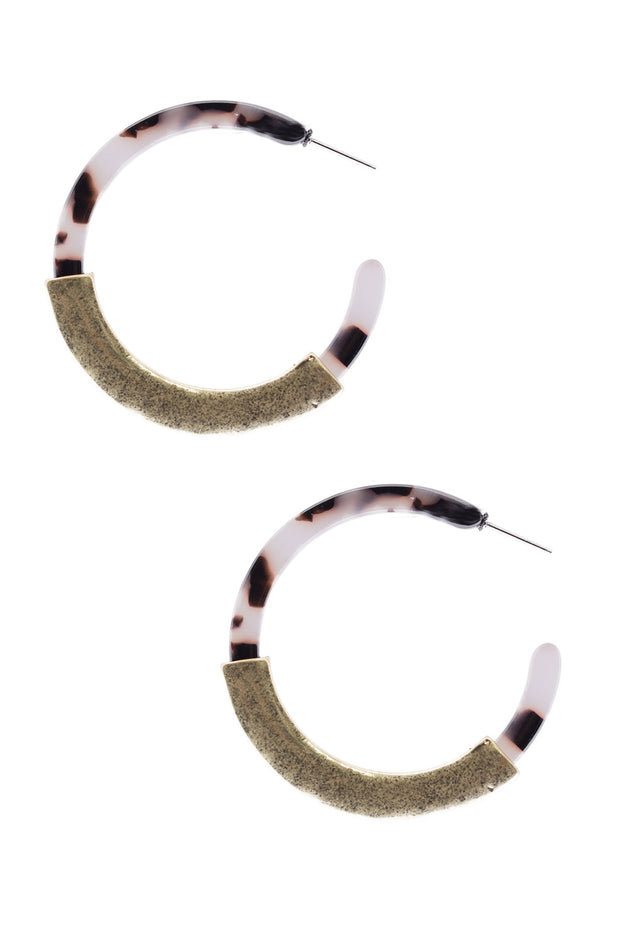 Moulin Resin Hoop Earring
