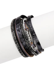 Double Wrap Leather Bracelet, womens fashion accessories, statement bracelet